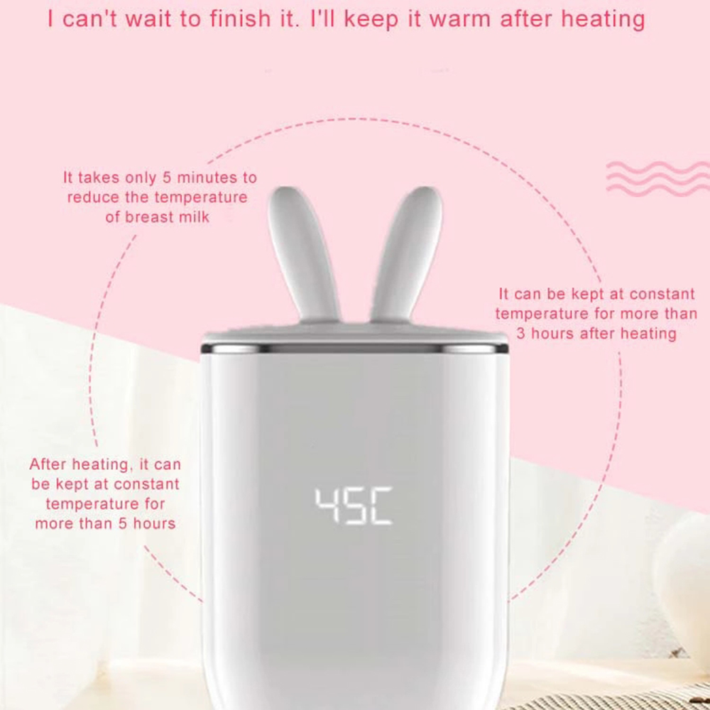 Jiffi Hot Selling Multifunctional All-in-one USB Rechargeable Portable Travel Automatic Baby Bottle Milk Warmer