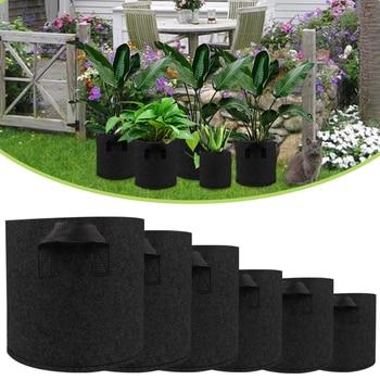 Non Woven Plant Pots Grow Bag Root Pouch Container Breathable Vegetable grow Bag with Handles Garden Supplies Grows Culture D30 эксмо магнитные garden culture