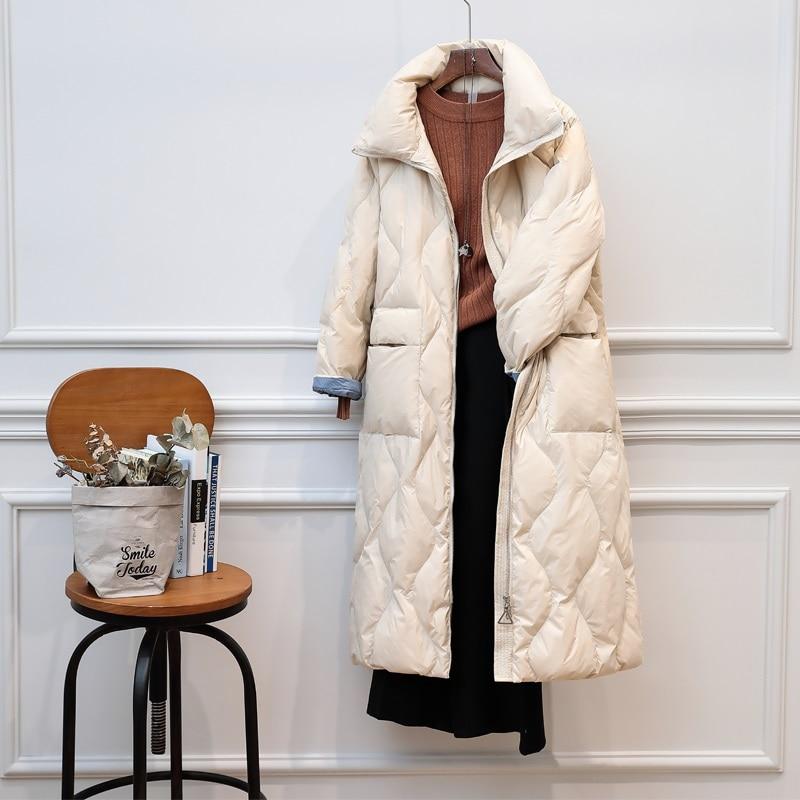 2019 New Women Down Coat 90% Ultra Light White Duck Down Winter Jacket Women Coats Female Long Casual Warm Down Parka Outerwear