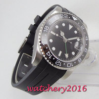 40mm PARNIS Sterile Dial sapphire glass Date GMT Automatic Movement men's Watch