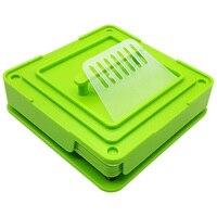 ABS مع عبث Flate أداة Encapsulator اليدوي دائم موزعات الأخضر 100 ثقوب حجم 0 آلة تعبئة الكبسولة الغذاء الصف-في ماكينات التغليف من أدوات على