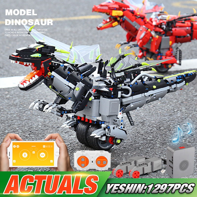 Yeshin App Voice Control Toys With Music Compaitble With <font><b>70612</b></font> Mecha Dragon Set Building Blocks Bricks Assembly Programming Toys image