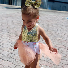 Summer Baby girls Princess Lace Rompers Infant Sequins Backless Jumpsuit Ruffles Flower Clothes Summer Outerwear Pajamas(China)