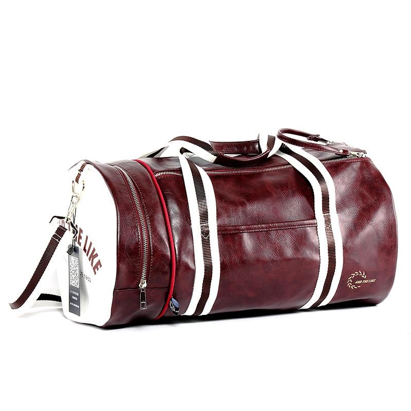 Shoulder Bag Handbs Messenger Bags Leather Travel Bag Bucket Sports Bag Men Fitness Bag Female Portable Training Mochila Luggage