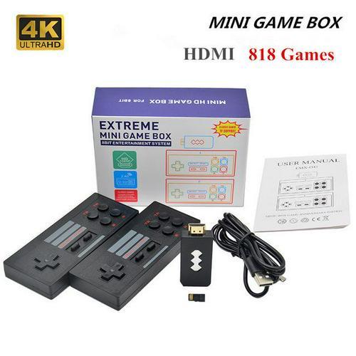 4K видео игровой консоли двойной игроков Ретро встроенный 620/818 футболки с принтами на тему классических игр Ретро игровой консоли, совместим...