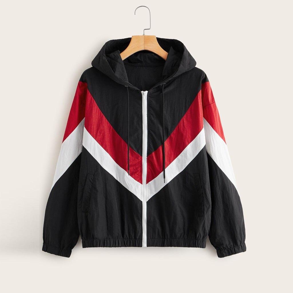 CHAMSGEND куртка леопардовая модная верхняя одежда тонкие кожаные костюмы на молнии с длинным рукавом Куртка с капюшоном пальто Casaco Feminino Manteau - Цвет: C