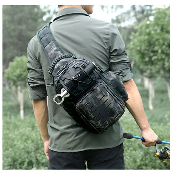 Tactical Chest Bag Military Army Laser Molle Sling Shoulder Backpack Men Outdoor Hunting Travel Camping Fishing Camo Bag 6