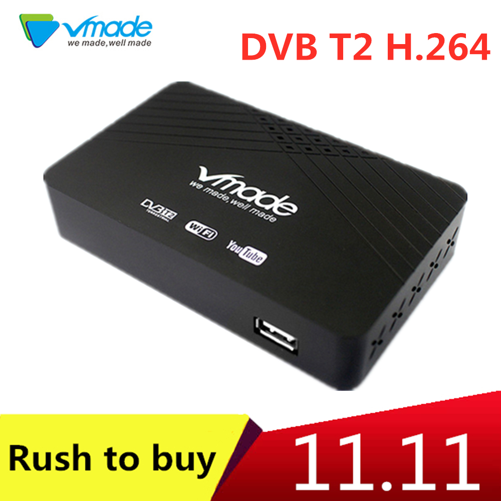 Vmade Mini Face Shell Decoder DVB T2 Terrestrial Receiver Support Youtube IP TV WIFI PVR TV BOX For Russia Spain Ukraine France