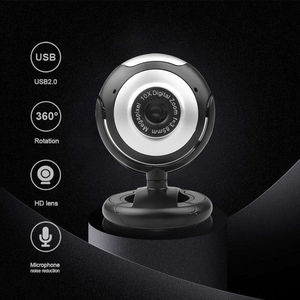 USB 2.0 Webcam Portable HD Web Camera 10X Digital Zoom 360 Degree Rotation Clip-on Computer Webcam With MIC For PC Laptop Camera