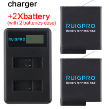 RP AHDBT501 Hero5 Battery Akku+ USB LED 3-Port Charger with Type C Port for GoPro 2018 Hero 5 GoPro Hero 6/7/8 Camera Battery telesin 3 way led battery charger 3 battery pack charging box type c cable for gopro hero 8 7 6 hero 5 black accessories set