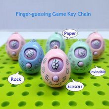 3 Pcs/Lot Fair Finger-Guessing Game Mora Device Rock Paper Scissors Play Toy Round Egg Funny Keychain Car Pendant Small Gift