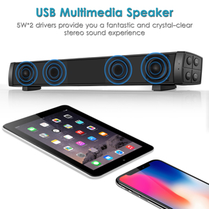 Image 2 - USB Wired Powerful Computer Speaker Bar Stereo Subwoofer Bass speaker Surround Sound Box for PC Laptop phone Tablet MP3 MP4