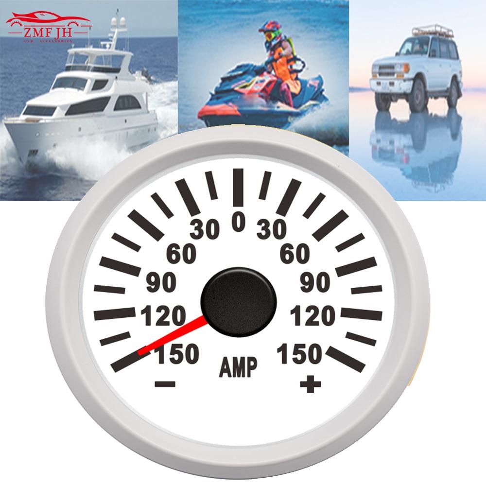 52mm universal Car boat AMP Current Meter Gauge Amperemeter 150A 75Mv 9-32V 316L for motorcycle Boat Yacht