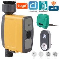 Sistema de riego inteligente, automático, con conexión WiFi, temporizador, sensor de humedad del suelo, control del riego del jardín