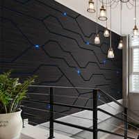 3D Black Metal Circuit Board Industrial Decor Wall Paper Technology Company Decor Mural E-sports Hall Internet Bar KTV Wallpaper