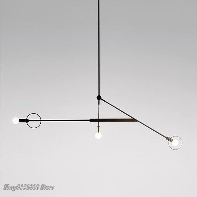 โมเดิร์นเรขาคณิตศิลปะจี้ไฟ Nordic สายแขวนโคมไฟ LOFT อุตสาหกรรมบ้านตกแต่งห้องครัวโคมไฟโคมไฟ-ใน โคมไฟแบบห้อย จาก ไฟและระบบไฟ บน