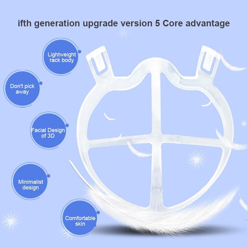 1pcs Reusable 3D Mask Bracket Mask Inner Internal Support Frame Breathing Mask Holder Protection Frame Mask Bracket Accessories