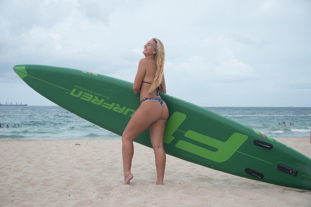 Surf inflável levante-se a placa de pá do sup isup surfboard 2019 temporada surfren race board f1 tamanho 428*76*15cm barco de caiaque de surf