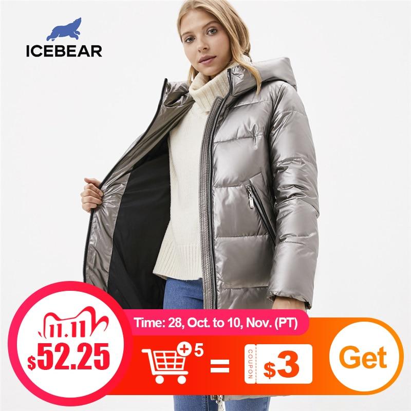 ICEbear 2020 Зимнее повседневное модное женское пальто женская одежда Плотная женская куртка с капюшоном GWD20161D|Парки| | АлиЭкспресс