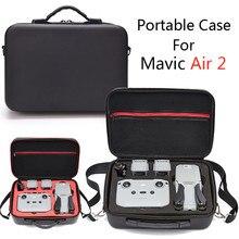 드론 가방 Mavic Air2 휴대용 스토리지 핸드백 PU/나일론 커버 케이스 DJI Mavic Air 2 프로텍터 블랙 운반 케이스