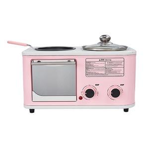 Электрическая бытовая машина для завтрака 3 в 1, мини-хлебный тостер, печь для выпечки, омлет, сковорода, горячий котел, пароварка для пищевых ...