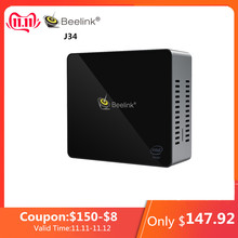 Beelink J34 Mini PC J3455 Windows 10 8GB+/256/512GB SSD Mini PC 2.4GHz+5.8GHz WiFi BT4.0 Support Fast Charge 2*HDMI Cooling Fan