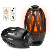 BTS 596 Flame Light Speaker Wireless Bluetooth Speaker w/ 96 LED lights 1800mAh Battery Support TWS TF Card Play 3W Speaker