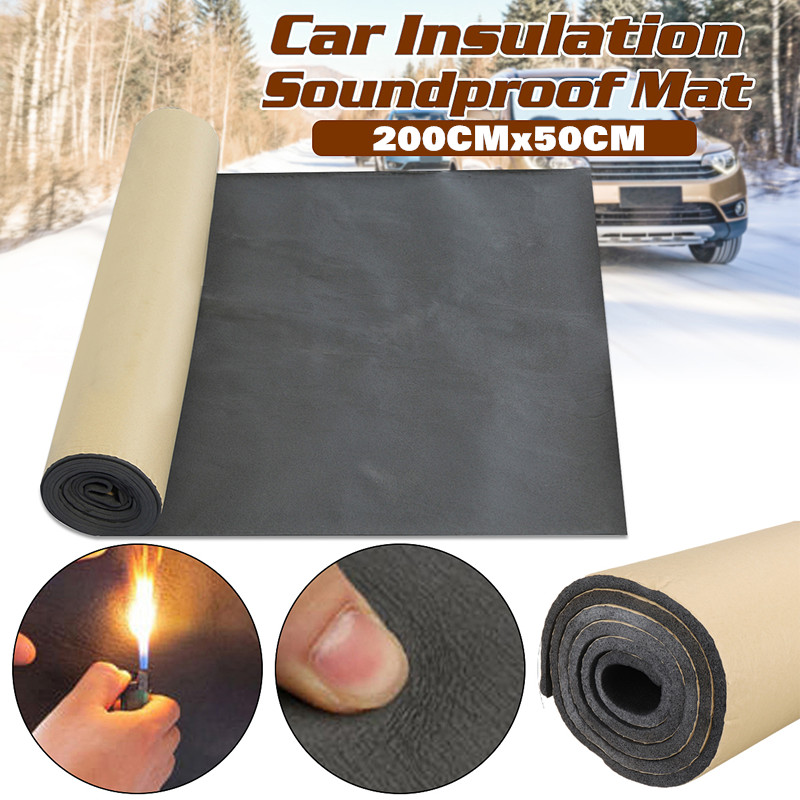 1 рулон, звукоизоляционная пена для автомобиля, 200 см x 50 см, 10 мм/6 мм/3 мм