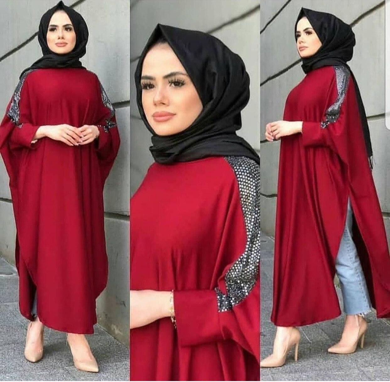 African Clothes Muslim Hijab Dress Women Islamic Clothing Abaya Sequin Pakistani Dresses Moroccan Kaftan Ramadan Burqa Jubah