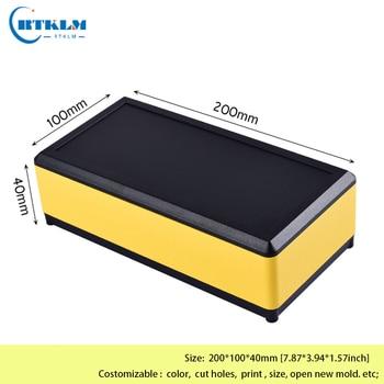 цена на Aluminium project box diy metall case aluminium enclosure junction box amplifier housing for electronics 200*100*40mm