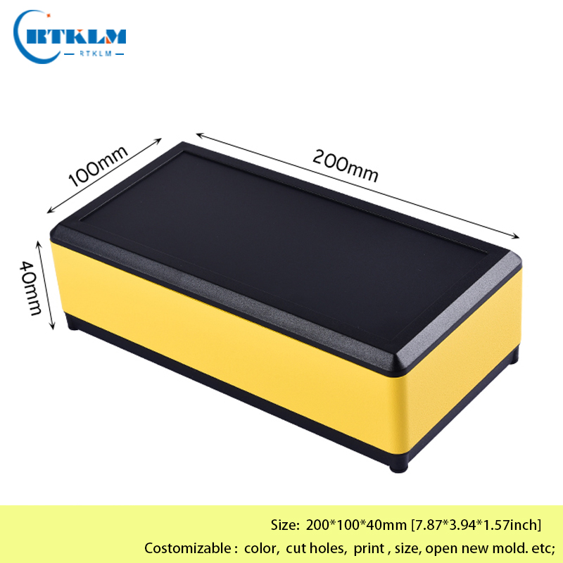 Aluminium project box diy metall case aluminium enclosure junction box amplifier housing for electronics 200*100*40mm(China)
