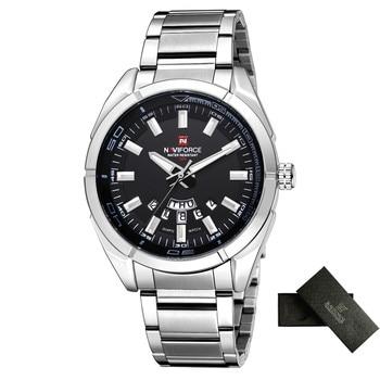 NAVIFORCE Brand Men Watches Business Quartz Watch Men's Stainless Steel Band 30M Waterproof Date Wristwatches Relogio Masculino 8