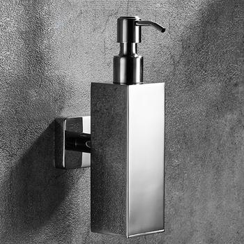 Styl skandynawski szczotkowane lustro dozownik do mydła 304 ze stali nierdzewnej do montażu na ścianie łazienka kuchnia dozownik do mydła w płynie do rąk dozownik do mydła tanie i dobre opinie QINGYU ELEVEN CN (pochodzenie) NONE Dozownik mydła w płynie 00007 Dozowniki na mydło w płynie Metal