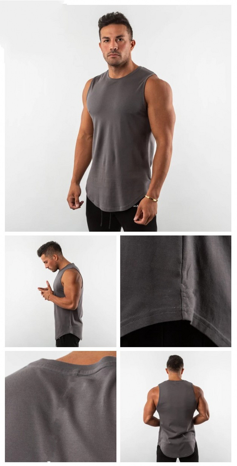 Pure color New Men Cotton Tank Tops Underwear Mens Gyms Undershirt Transparent Shirts Male Bodyshaper Fitness Wrestling Singlets