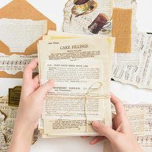 Livro antigo seriess scrapbooking/cartão de fazer/projeto de jornaling diy kraft retro cartões de papel de escrita 57 folhas