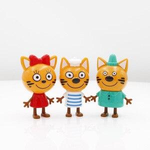 Image 5 - 2019 yeni sıcak 5 adet mutlu üç yavru rus aksiyon figürü oyuncak çocuk kediler e kedi modeli bebek çocuk oyuncak çocuk noel hediyesi