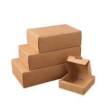 10pcs/Lot 4 Sizes Hot Sale Flip Cover Paper Gift Box Thick  Kraft Brown Wedding Favor For Packaging