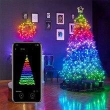 10M LED String Light Bluetooth App Control Christmas Tree Decoration Lamp Waterproof Outdoor Smart Wedding Holiday Fairy Lights