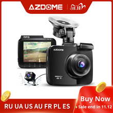 AZDOME 2160P GS63H Car DVR GPS 4K WIFI Dash Camera Dual Lens 1080P Rear View Camera Super Night Vision Dashcam 24H Parking Mode