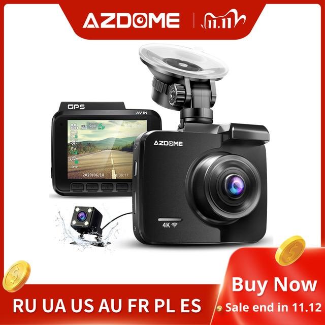 AZDOME 2160P GS63H Car DVR GPS 4K WIFI Dash Camera Dual Lens 1080P Rear View Camera Super Night Vision Dashcam 24H Parking Mode