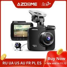 Azdom 2160P GS63H جهاز تسجيل فيديو رقمي للسيارات لتحديد المواقع 4K واي فاي داش عدسة كاميرا مزدوجة 1080P كاميرا الرؤية الخلفية سوبر للرؤية الليلية داشكام 24H وضع وقوف السيارات
