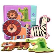 Раннее детство образование фрукты животное резьбонарезная доска деревянная веревка игры игрушки для детей