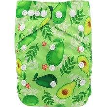 Детские тканевые подгузники Ohbabyka, многоразовые Экологически чистые подгузники с карманом, один размер, подходит для детей 3-15 кг, для мальчи...