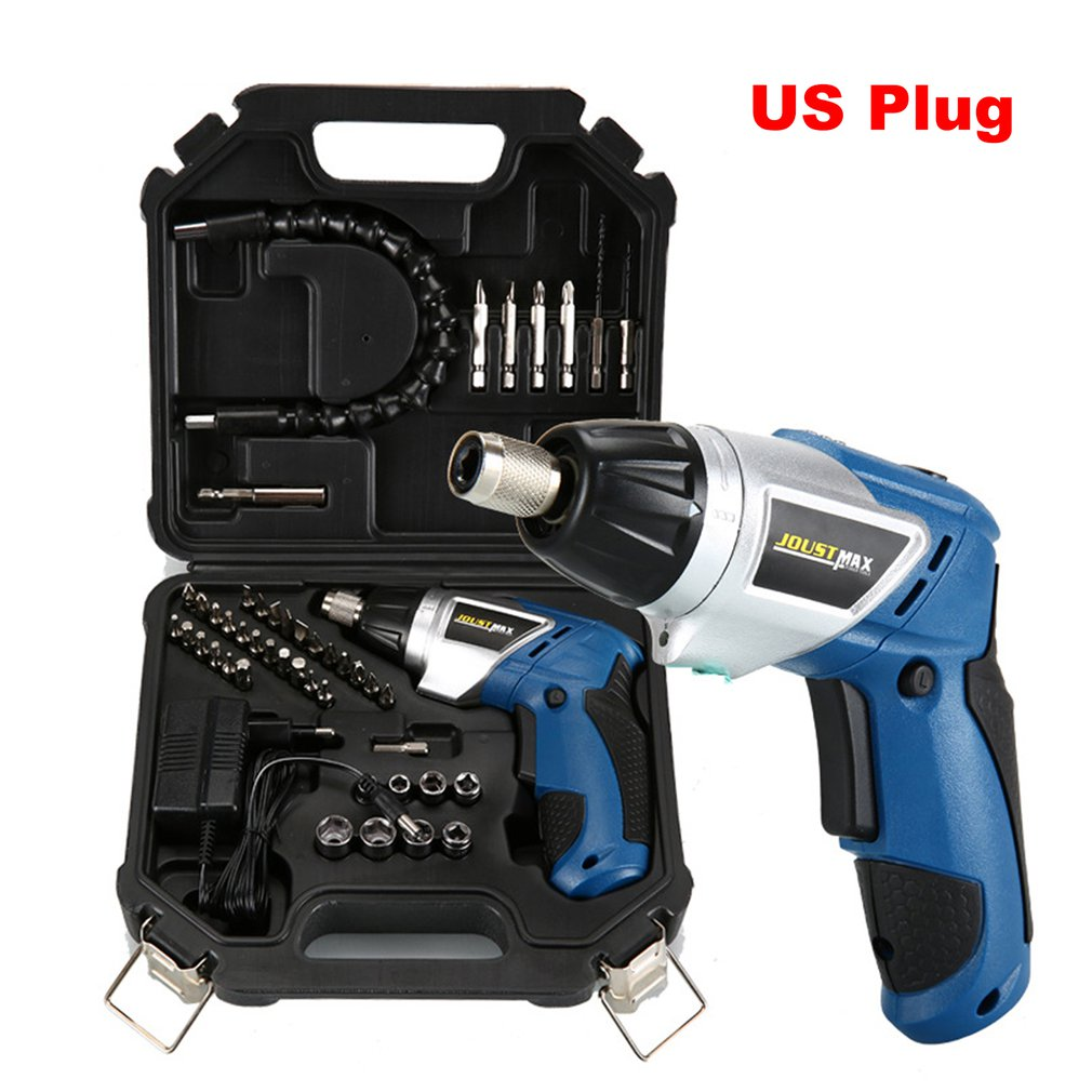 46Pcs Wireless Handheld Electric Screwdriver Set Household Rechargeable Drill Gun Tools Multi-function Screwdrivers