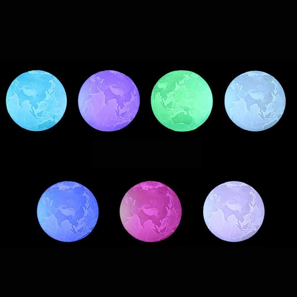 ICOCO USB 16 Цвет 3D принт земля лампа светодиодный Ночной светильник с пультом дистанционного управления Управление для домашнего декора, Рождественский подарок на день рождения, Прямая доставка