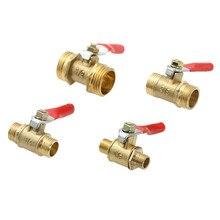 """Пневматический клапан 1/"""" 1/4"""" 3/"""" 1/2"""" """"BSP с наружной резьбой, мини шаровой клапан, латунный соединитель, медный соединитель, адаптер для воды, воздуха"""