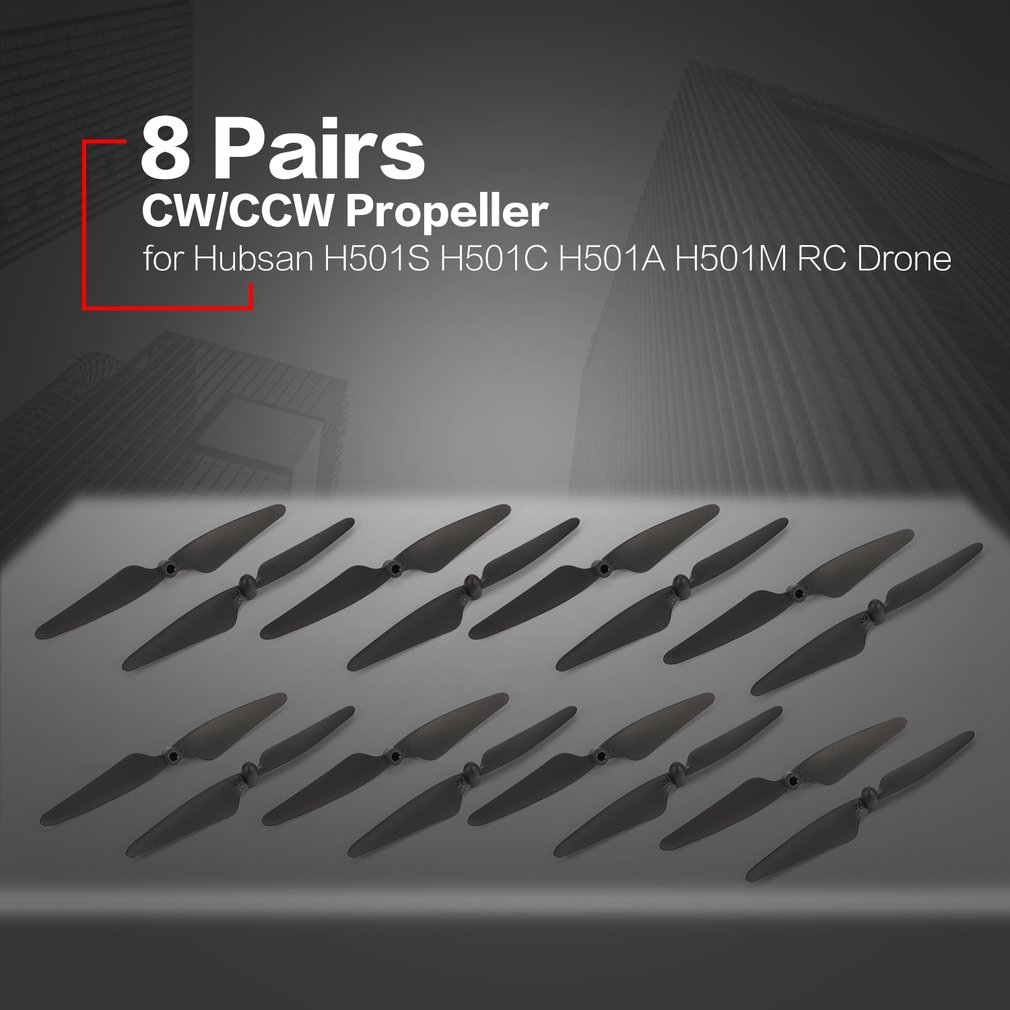 8 Pairs CW/CCW RC Propellers Props Blade RC Spare Part for <font><b>Hubsan</b></font> H501S H501C <font><b>H501A</b></font> H501M 501 RC Quadcopter Drone Aircraft Parts image