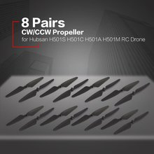 8 Pairs CW/CCW RC Propellers Props Blade RC Spare Part for Hubsan H501S H501C H5