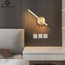 Светодиодный настенный светильник золотого цвета прикроватный