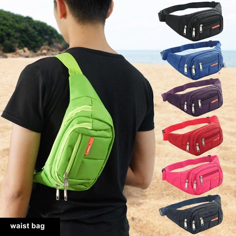 Casual Waist Bag Men Chest Crossbody Pack Phone Wallet Waterproof Multi-layer Functional Sports Travel Bum Shoulder Bags Women